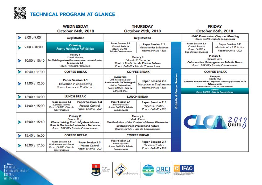 Cronograma CLCA2018